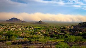 Haboob from Fountain Hills by arizonaAlbatross
