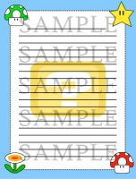 Mario Item Box Stationery by cuteordeath