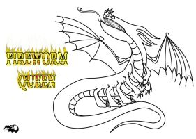 Fireworm Queen Outline and Character Template by dragonhalf13570