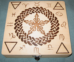 Pentacle wooden box by laurapalmerwashere