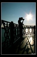silhouette of a photographer by Anahita