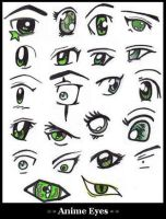 Anime Eyes by K-A-Windbearer