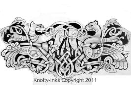 Celtic armband tattoo design by Tattoo-Design