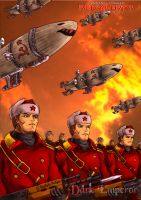 The Soviet march under red sky by DarkEmperor00