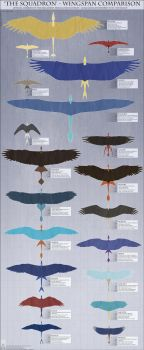 Personal - Wingspan Comparison Reference by TwilightSaint