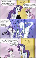 Rarity vs slenderman by CIRILIKO