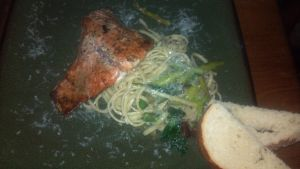 Pan-seared salmon with linguine by FutureChefHaku