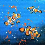 Poissons clowns by JessicaSansiquet