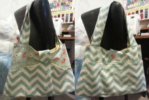 Chevron Fox Diaper Bag by inaligrimalkin