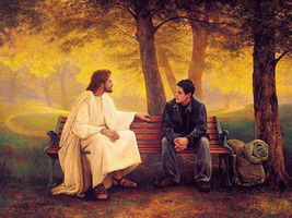 You are never alone with Jesus Christ by myjavier007