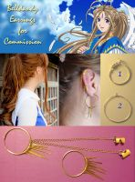 Belldandy Earrings for Commission by breathelifeindeeply