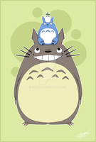 Postcard - Totoro and cie by Niutellat