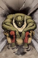 Killer croc color by pitey
