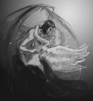 Dragon and the Swan - wip-2 by Lumaris