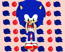 Sonic and his Apple by Freaky4live