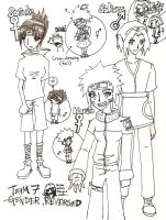 Naruto Team7: Gender, Reversed by chibi-esque