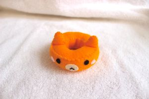 Orange Doughnut Cat Plush by PinkChocolate14
