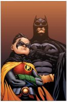 Batman and Robin by drewdown1976