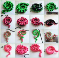 Tentacle Necklaces on Etsy by KTOctopus