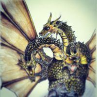 King Ghidorah (instagram) by goodsnake