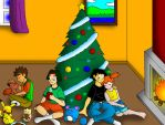Sitting under the Christmas Tree by streetgals9000