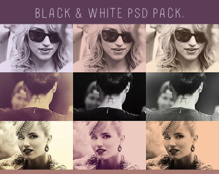 black and white psd pack. by jessramblings
