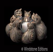 Circle of cats candle lamp by Reptangle