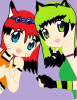Sisters :Midnight: :Sanichi: by NightFurry14