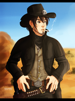 A Poor Lonesome Cowboy by Grimmby