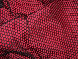 Red Behind Black Net 02..... by Shadukha-Stock