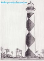 Cape Lookout Lightouse by kimberly-castello