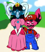 Mario and Peach. by JunkUpShowUp