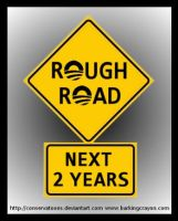 Rough Road with Obama grahic by Conservatoons