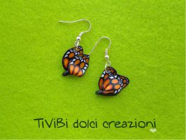 Butterfly Earrings by tivibi