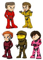 RvB Chibis - Red Army by PhoenixTrooper
