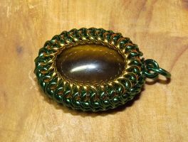 Tiger's Eye Maille Wrap by SarahTheSlightlyMad