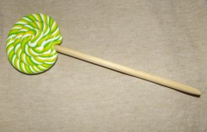 Lemon-lime lolly hairstick by MeticulousBlue