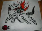 Okami Amaterasu Drawing by TheCoolCosplayer22