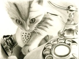 realism - 'Telephone Caller' by RedDestiny
