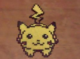 Dashing Pikachu Perler by Perler-Pop