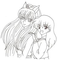 Youko Kurama And Kagome by usagisailormoon20