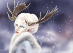 Snow elf by Allunia-dream