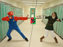 Mario VS Link by FourSwordsFanAMZ