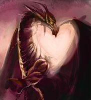 Dragon Heart by StitchParadox