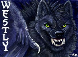 Westly Vampire Wolf Badge by Foxfeather248