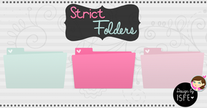 Strict Folders (.Png) by Isfe