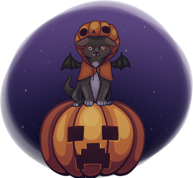 helloween cat by vegi92