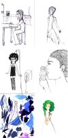 Graphic diary sketchdump by darkwings16