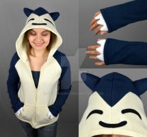 Snorlax Hoodie by SewDesuNe