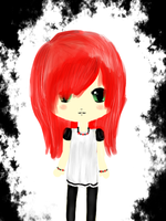 Red-haired Chibi. by Meriancel